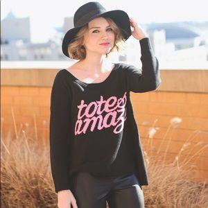 bogo 50% off ✰ american eagle black & pink sweater